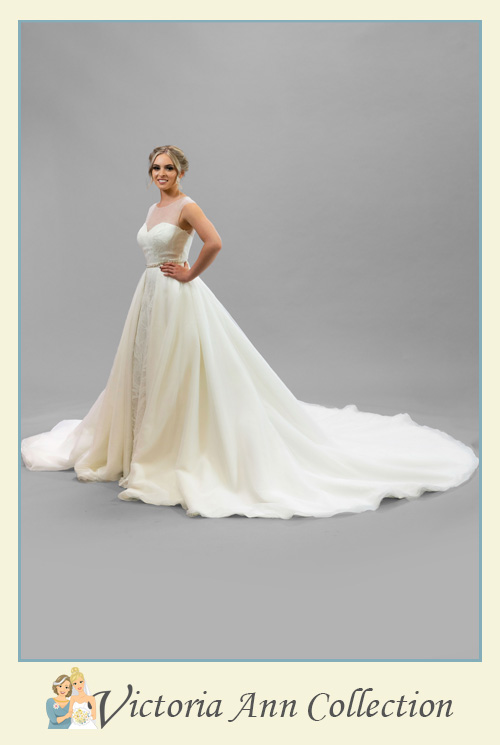 WD107-Train - A stunning collection of wedding dresses, bridal gowns, prom dresses, mothers outfits and bridesmaids, Victoria Ann Bridal